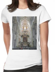 Interior, St Nicholas's church, Ghent, Belgium Womens Fitted T-Shirt