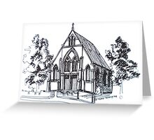 Christ Church Kensington Melbourne. Elizabeth Moore Goldingⓒ Greeting Card