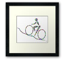 Cycling is a sport of the open road. Framed Print