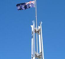 Australia flag, Parliament House Canberra, ACT by mensoart