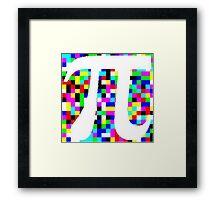 Pi = 3.1415926 Framed Print