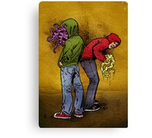 Tentacle Twins Canvas Print