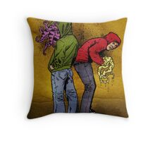 Tentacle Twins Throw Pillow