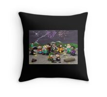 Fourth of July in South Park Throw Pillow