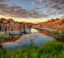Sunset Channel by Bob Larson