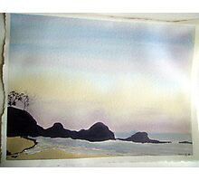 daybreak at little waterloo bay,  Photographic Print