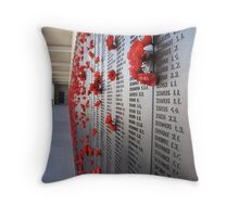 Roll of Honour at the AWM Canberra Throw Pillow