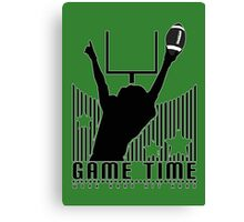 Game Time - Football (Green) Canvas Print