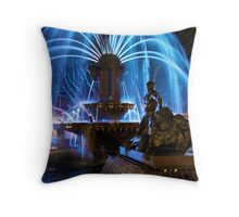 Hyde Park Fountain, Vivid Sydney Throw Pillow