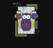 Striped Owls 2 Womens Fitted T-Shirt