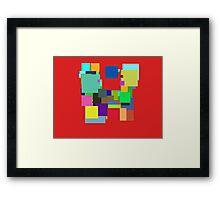 Colorful Square Framed Print