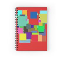 Colorful Square Spiral Notebook