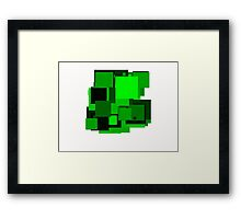 Dark green squares Framed Print