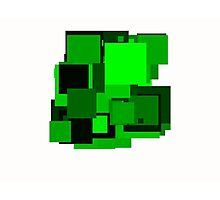 Dark green squares Photographic Print