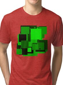 Dark green squares Tri-blend T-Shirt
