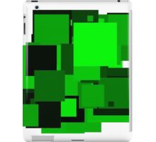 Dark green squares iPad Case/Skin