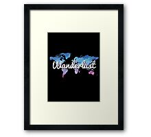Wanderlust World Map Framed Print