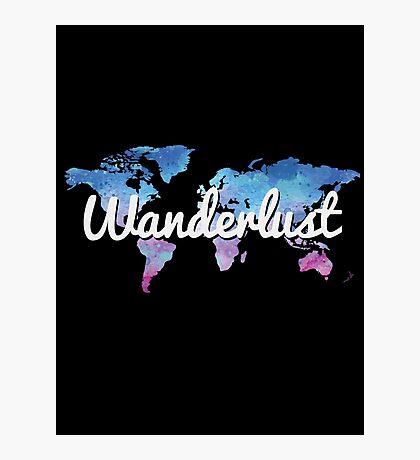 Wanderlust World Map Photographic Print