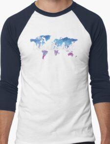 Wanderlust World Map Men's Baseball ¾ T-Shirt