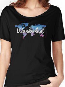 Wanderlust World Map Women's Relaxed Fit T-Shirt