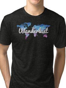 Wanderlust World Map Tri-blend T-Shirt