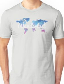 Wanderlust World Map Unisex T-Shirt