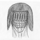 judge death - pen sketch by vampvamp