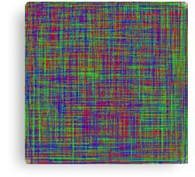 The mix of Red, Green, Blue lines Canvas Print
