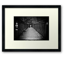 Walking the dogs Framed Print