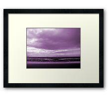 Rain Clouds At Sand Bay Framed Print
