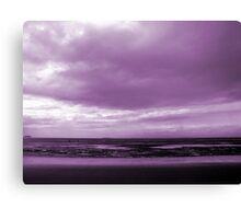 Rain Clouds At Sand Bay Canvas Print
