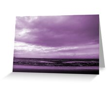 Rain Clouds At Sand Bay Greeting Card