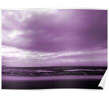 Rain Clouds At Sand Bay Poster