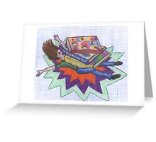 Knocked Down by Knowledge Greeting Card