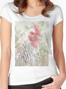 Cockeral in Bluebells Women's Fitted Scoop T-Shirt