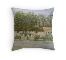 """Thatched Cottage, Uphill, Somerset"" Throw Pillow"