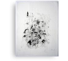 Contraintes et Abandon #10 - Monotype on Wenzhou Paper Canvas Print