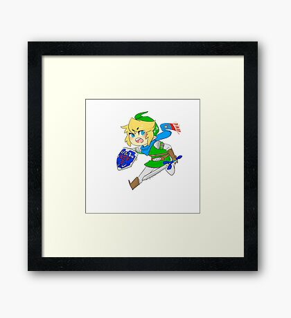 Link - Hero of Hyrule  Framed Print