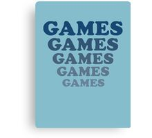 Adventureland – Games Games Games Canvas Print