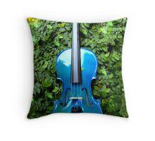 il violino blu nell' edera © 2010 patricia vannucci  Throw Pillow