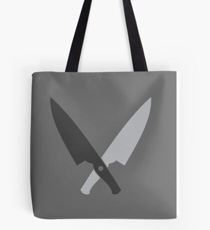 Crossed chef knives (Two knife) Tote Bag
