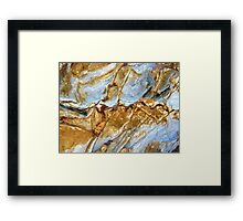 Ice Canyons Framed Print