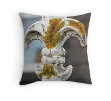The trouble with lichen Throw Pillow