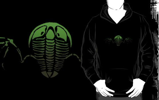 Flying Trilobite Fossil green by Glendon Mellow