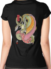 wing dragon  Women's Fitted Scoop T-Shirt