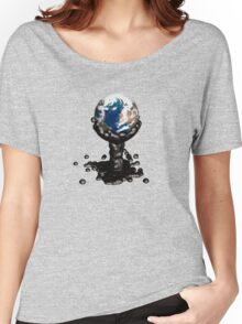 Earth submerged by petroleum... Women's Relaxed Fit T-Shirt