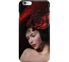 French girl with red hat iPhone Case/Skin