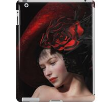 French girl with red hat iPad Case/Skin