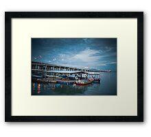 Bridge   Blue Sky   Sea Framed Print