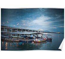 Bridge | Blue Sky | Sea Poster